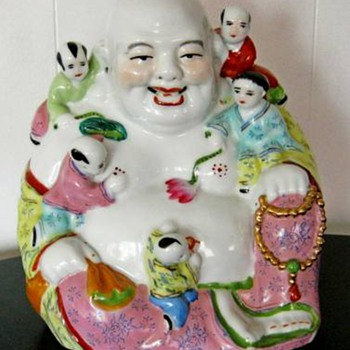 Vintage porcelain Happy Buddha