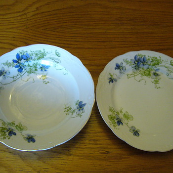 Inherited set of dinner plates