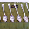 Set of 6 Brock & Co. silver spoons