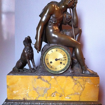 French Bronze Sculpture Clock - Clocks