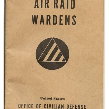 World War II Air Raid Warden's Handbook (U.S. Office of Civilian Defense) - Books