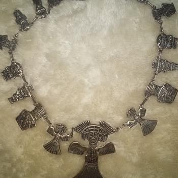 antique silver necklace? - Silver