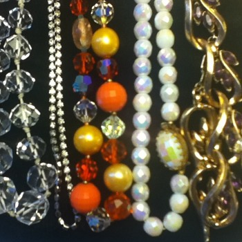 Assortment of Vintage Necklaces and Chokers - Costume Jewelry