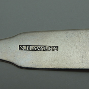 Coin Silver Spoon: N. Hawley - Sterling Silver