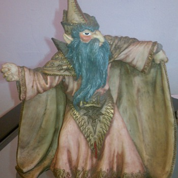 Wizard Figurine - Art Pottery