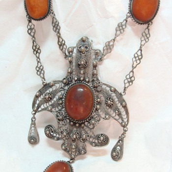 Antique Amber Festoon Necklace