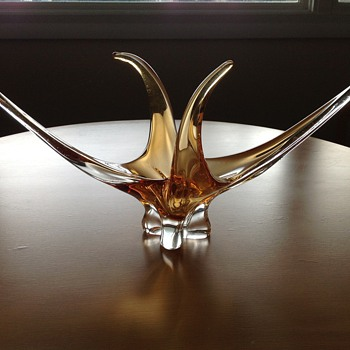 Chalet Art Glass Centerpiece  - Art Glass