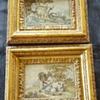 Pair of 18th century needle paintings.