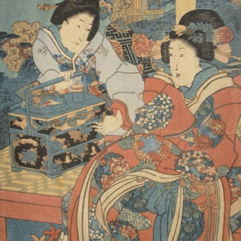 Japanese wood block print - Asian