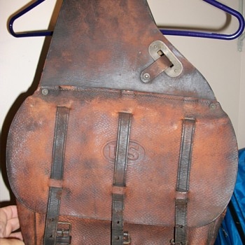 U.S Stamped Leather Saddle Bags - Bags