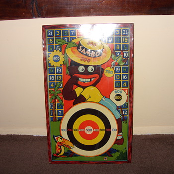 1930s sambo metal dart board - Games