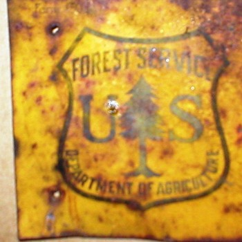 UPDATE ON VINTAGE FOREST SERVICE SIGN - Signs