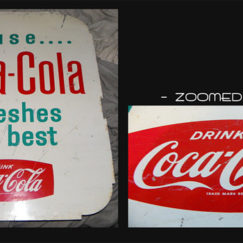 Coca Cola Tin sign 1960s? Need help - Coca-Cola