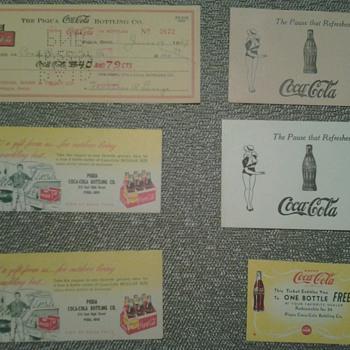 Various Coca Cola Paper Items - Coca-Cola