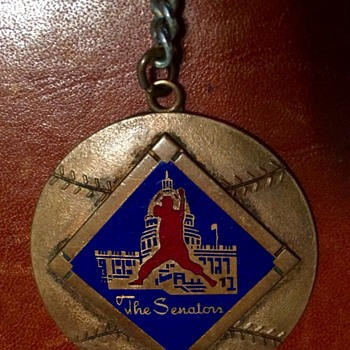 WASHINGTON SENATORS KEY FOB 1957-1960