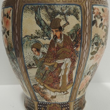 Japanese Satsuma Vase - 19th Century? - Post II - Asian