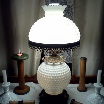 Oil Lamps that become Vintage Electric Table Top Lamps - Lamps