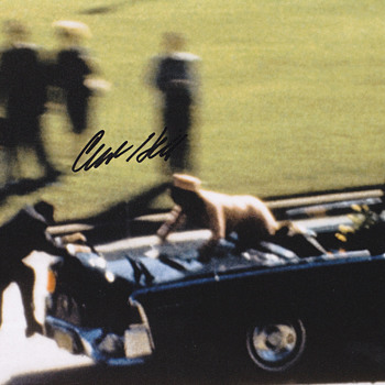 JFK Assassination Photo  .  .  .  Clint Hill Signed