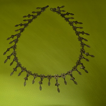 Vintage or antique fringe necklace