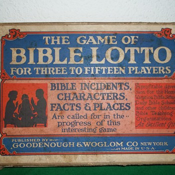 The game of Bible lotto. 1933. - Games