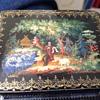 Russian lacquer box 2 1/2x3 1/4x1 1/2.