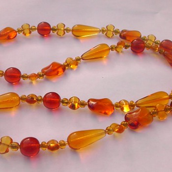 Autumn glass necklace - Costume Jewelry