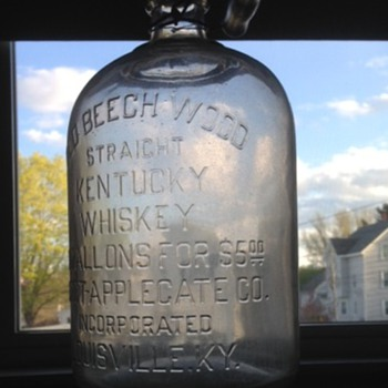 old 1 gallon Whiskey bottel - Bottles