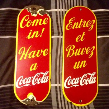 English and French Palm pushes - Coca-Cola