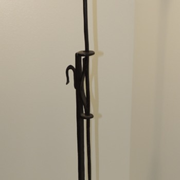 WROUGHT IRON FLOOR CANDLESTAND - c. 1680-1700 - Lamps