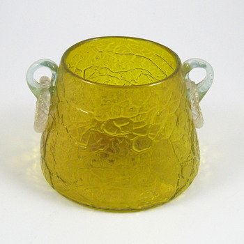Loetz Mimosa vase with applied ring handles - Art Glass