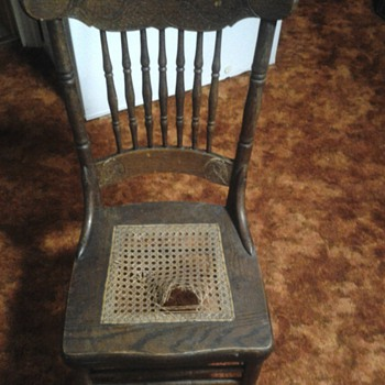 S Bent & Brothers cane chair