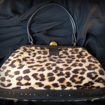 1950's Faux Leopard Skin Handbag 'DAY SOL' - Accessories