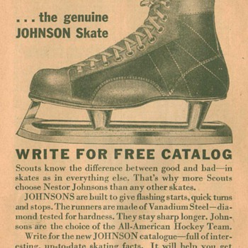 1932 Johnson Skates Advertisement - Advertising