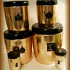 Vintage WEST BEND ( or WESTBEND) CANISTER SET ---> Anodized Colored Aluminum