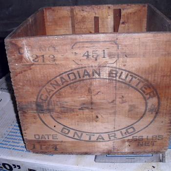 Canadian wooden butter box.