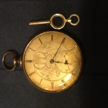Pocket watch found in wall need help