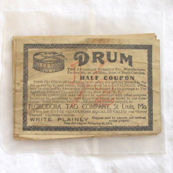 Drum Coupons 1/2 - Advertising