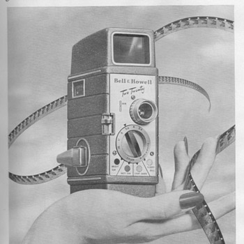 1953 - Bell & Howell Model 220 Movie Camera Advertisement - Advertising
