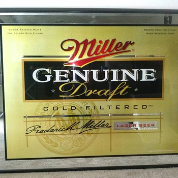 Huge Miller Genuine Draft Bar Mirror  - Breweriana