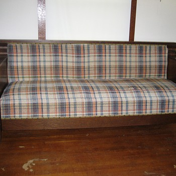Mission Oak Sofa Bed - Furniture