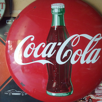 Coca Cola Button Signs - Coca-Cola