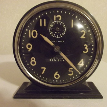 Big Ben Chime Westclox Alarm RD 1931 Western Clock Peterborough - Clocks