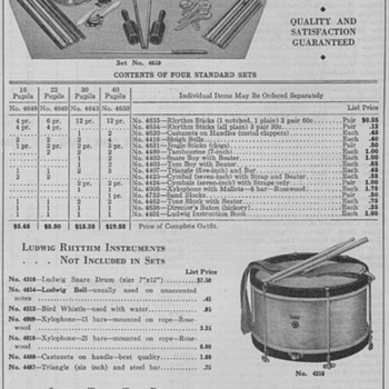 1934 - Ludwig Drums Advertisement - Advertising