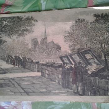 jules leray small print paris les bouquinistes - Visual Art