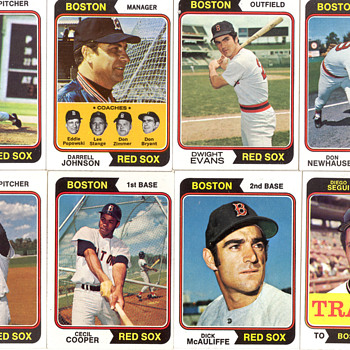 1974 Red Sox Baseball Cards - Baseball