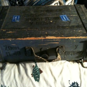 1953 Cold War era Russian ammo crate. - Military and Wartime