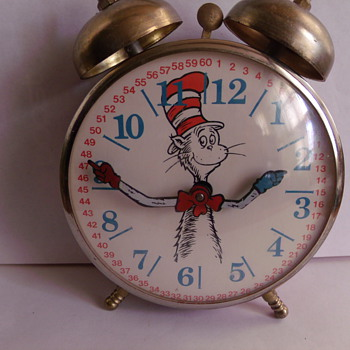 "Dr. Suess ""Cat in the Hat"" Alarm Clock - Clocks"