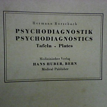 HERMAN RORSCHACH PSYCHODIAGNOSTIC PLATES 1921/1948