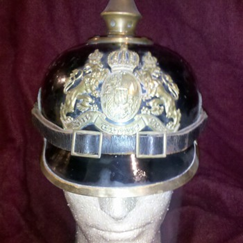 WWI Bavarian Spiked Helmet 1914...made of METAL!!
