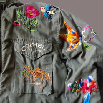 Profusely Embroidered 1960's Original Protest Jacket - Mens Clothing